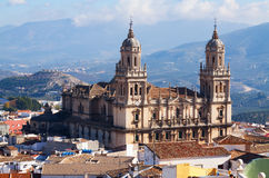 Renaissance style Cathedral in Jaen Stock Photography