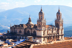 Renaissance style Cathedral in Jaen Royalty Free Stock Photography