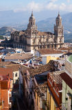 Renaissance style Cathedral in Jaen Stock Photos