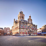 The Renaissance style City Hall of Delft, Holland royalty free stock image