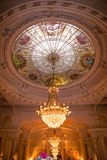 Renaissance Wedding Reception Room with Windows Glass Dome and Arches Stock Images