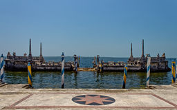Renaissance style luxury ship dock Royalty Free Stock Photography