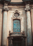 Renaissance style windows with columns Stock Photo