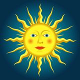 Renaissance sun. Vector drawing of the renaissance sun Stock Image