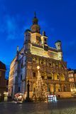 Renaissance town hall and christmas decorations royalty free stock image