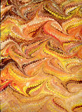 Renaissance/Victorian Marbled Paper 15. Photo of handmade (by my wife) Renaissance/Victorian Marbled Paper royalty free illustration