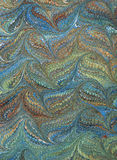 Renaissance/Victorian Marbled Paper 2. Photo of handmade (by my wife) Renaissance/Victorian Marbled Paper royalty free illustration