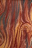 Renaissance/Victorian Marbled Paper 42 Royalty Free Stock Photography