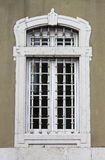 Renaissance window with grate Stock Photo