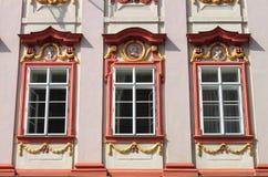 Renaissance windows royalty free stock photo