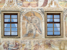 Renaissance  windows  and sgraffito Stock Images
