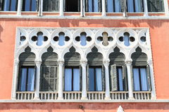 Renaissance windows in Venice Royalty Free Stock Images