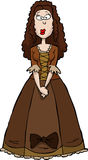 Renaissance Woman. In brown dress vector Royalty Free Stock Photography