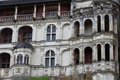 Renaissancefassade am Schloss von Blois. Stockfotos