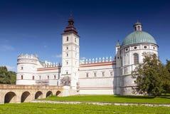 Renaissancekasteel in Krasiczyn in zuidoostelijk van Polen royalty-vrije stock foto