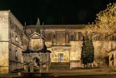 Renaissancekathedraal van de Geboorte van Christus van Onze Dame in Baeza, Jaen stock afbeeldingen