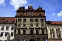 Renaissancestadhuis, Pilsen Stock Foto's