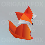 Renard d'origami Illustration de Vecteur