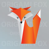 Renard d'origami Photos stock
