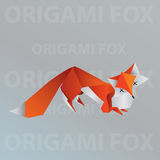 Renard d'origami Illustration Stock