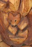 Renard en bois Photo libre de droits