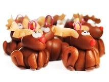 Renas da argila do polímero, decoração do Natal Fotografia de Stock Royalty Free