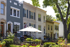 Renassiance homes in Washington DC Stock Images