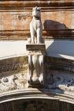 Renata di Francia Palace。费拉拉。伊米莉亚罗马甘。意大利。 免版税库存图片