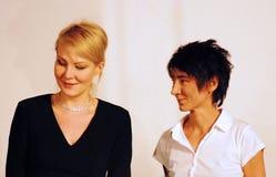 Renata Litvinova and Zemfira Stock Image
