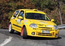 Renaul Clio   during the 32 ° Rally Lantern Royalty Free Stock Photo