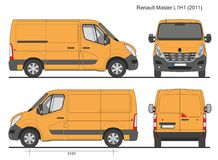 Renault Мастер Van L1H1 2011 Стоковые Изображения