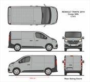 Renault торгует поставкой Van L1H1 2014 груза иллюстрация вектора