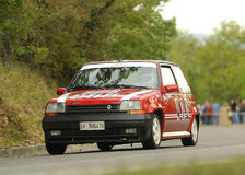 Renault 5 GT Turbo. A Renault 5 GT Turbo attends the 33th edition of Coppa del Chianti Classico  a competition race of hill-climb for Historical cars valid for Stock Images
