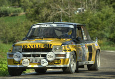 Renault 5 Maxi Turbo. Renault 5 Turbo on race during the 10th edition of Rally Legend  historical rally in San Marino repubblic ; 14th october 2012 Stock Images