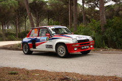 Renault 5 Turbo during Rally Vidreiro 2012 Royalty Free Stock Photos