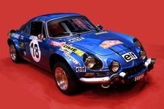 Renault alpino A 110 - macchina da corsa 1300 Fotografia Stock Libera da Diritti