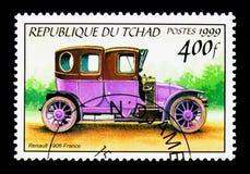 1906 Renault, antikes Automobile serie, circa 2000 lizenzfreies stockfoto