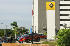 Renault-autotoonzaal royalty-vrije stock foto
