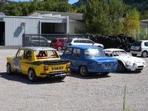 Renault bilar Arkivfoto