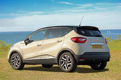 Renault captur by coast Royalty Free Stock Photo