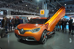 Renault Captur concept at  Moscow  Motor Show 2012 Royalty Free Stock Photos