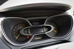 Renault CAPTUR dashboard on May 21 2014 in Hong Kong. Stock Photo
