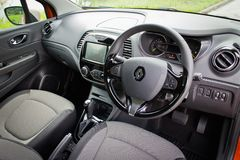 Renault CAPTUR interior on May 21 2014 in Hong Kong. Stock Images