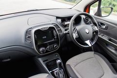 Renault CAPTUR Test Drive on May 21 2014 in Hong Kong. Royalty Free Stock Images