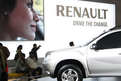 A Renault car on display at Auto Expo 2012 Royalty Free Stock Photo