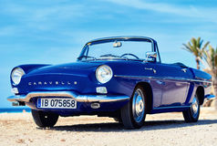 Renault Caravelle on the beach Stock Image