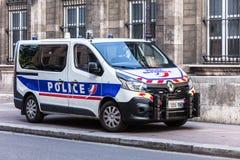 Renault ciężarówka prefektura policja Paryż Francja obraz stock