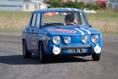 Renault 8 on a circuit. Royalty Free Stock Image