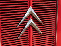 Renault classic car, detail royalty free stock photos
