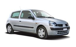 Renault Clio isolated on white Stock Image